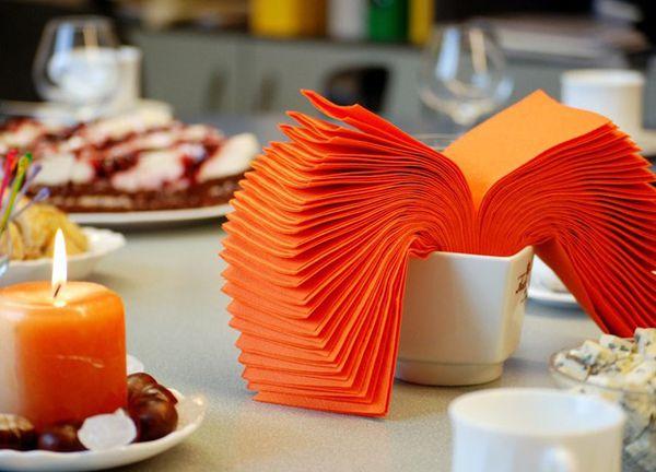 Салфетки в стакан бумажные для сервировки стола