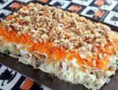 Миниатюра к статье Салат из печени трески — 6 вкусных рецептов с пошаговым фото + новые идеи
