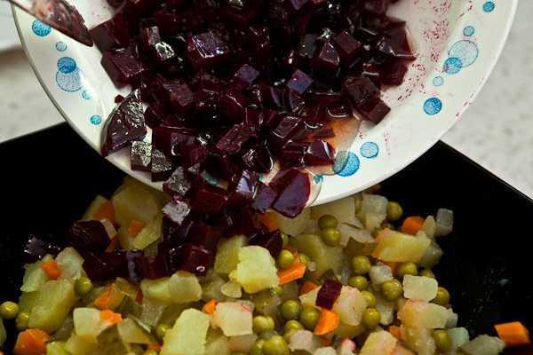 Винегрет рецепт классический с горошком пошаговый рецепт с фото