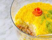 Миниатюра к статье Салат «Мимоза» с рыбной консервой: пошаговый рецепт с фото + секреты