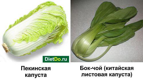китайская капуста калорийность