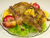 Утка с яблоками в духовке пошаговый рецепт с фото