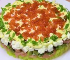 салат из авокадо и семги рецепт с фото