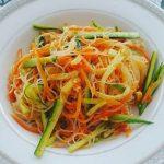 Миниатюра к статье Салат из фунчозы — быстрый и вкусный рецепт с огурцом и болгарским перцем
