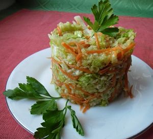 салат из черной редьки с пекинской капустой