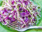 Миниатюра к статье Вкусный салат из красной капусты — 8+ лучших рецептов с фото
