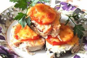 как запечь горбушу с помидорами и сыром
