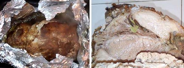 Мясо свинины в фольге в духовке