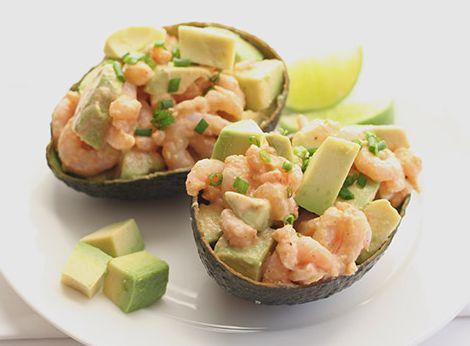Авокадо на креветках - пошаговый рецепт