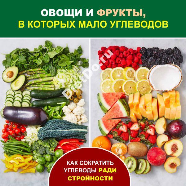 овощи и фрукты в которых мало углеводов