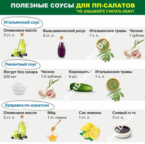 пп соусы для салатов