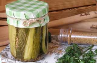 Миниатюра к статье Огурцы с горчицей на зиму — 2 самых вкусных рецепта