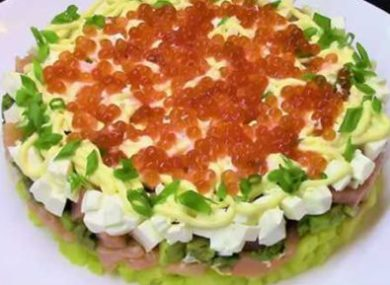 салат с авокадо и семгой рецепты с фото