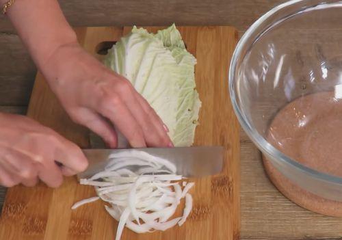 пекинская капуста как правильно резать