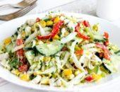 Миниатюра к статье Салат с пекинской капустой и курицей: 10+ рецептов с фото — просто и вкусно!