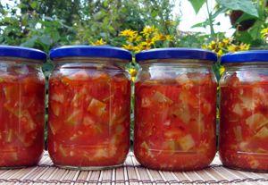 кабачки в томатном соусе на зиму рецепты