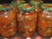 Салат Десяточка с баклажанами на зиму