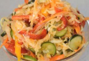 Миниатюра к статье Салат «Кубанский» на зиму — 4 вкусных рецепта с фото без стерилизации
