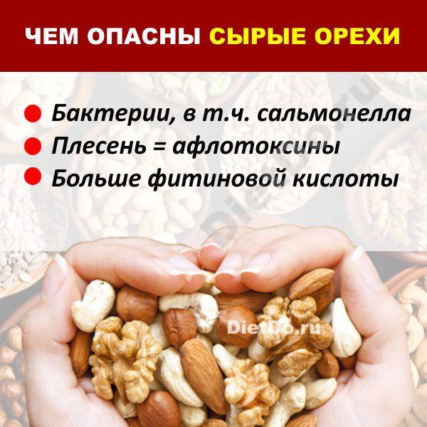 сырые орехи вред