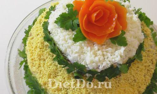 Миниатюра к статье Печёночный торт из говяжьей печени: 7+ простых и красивых рецептов с фото
