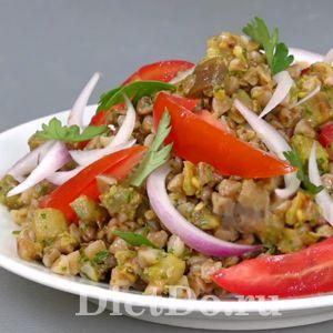 салат из баклажанов и гречки вкуснотища на каждый день