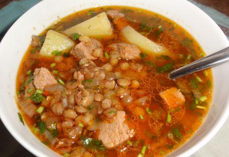 Миниатюра к статье Суп из красной чечевицы с мясом и картошкой — 11 вкусных рецептов с фото