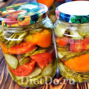 салаты из помидоров и огурцов на зиму рецепты