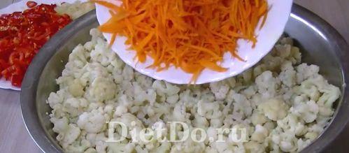 Цветная капуста по-корейски на зиму рецепт