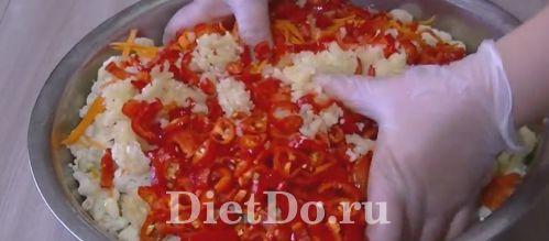 Цветная капуста по-корейски на зиму простой рецепт