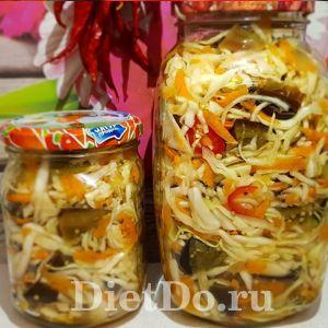 салат из баклажанов с капустой на зиму