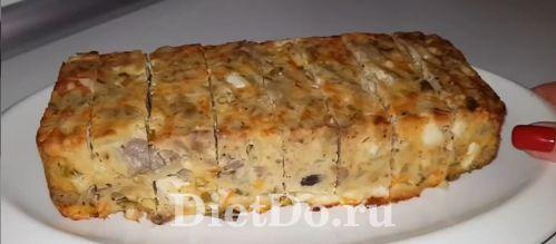 заливной пирог с капустой и куриной печенью рецепт