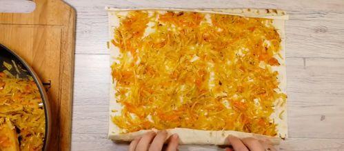 капустный пирог из лаваша пошаговый рецепт