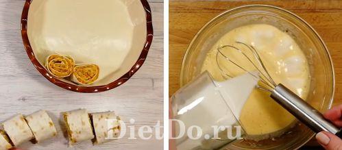 заливной капустный пирог из лаваша рецепт с фото