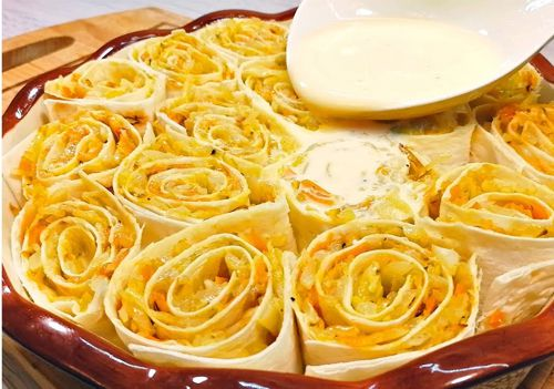 Капустный пирог из лаваша