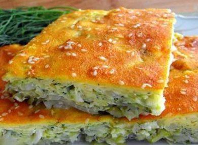 Миниатюра к статье Как приготовить заливной пирог с капустой в духовке — 10 быстрых и вкусных рецептов
