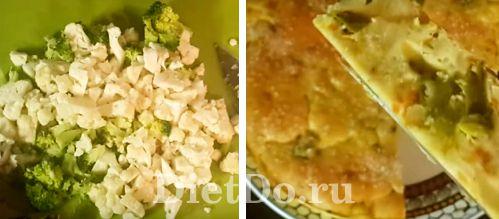 простой рецепт заливного пирога из цветной капусты без кефира