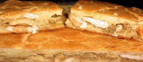 как приготовить наливной пирог с капустой и курицей