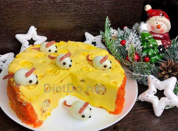 новогодний салат с мышками рецепт с фото