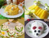 Миниатюра к статье Салаты в виде Крысы (мыши) на Новый год 2020 — 9+ вкусных новогодних рецептов