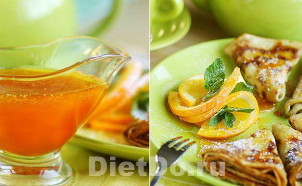 низкокалорийный соус из апельсинов
