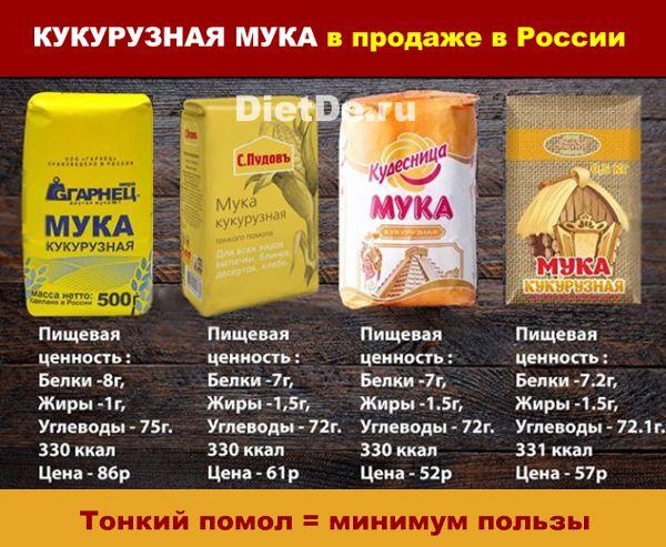 кукурузная мука какую можно купить в россии