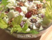 Миниатюра к статье Классический рецепт салата «Вальдорф» и 3 оригинальных с курицей и виноградом + видео