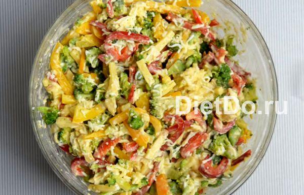 пп салат с брокколи и сыром