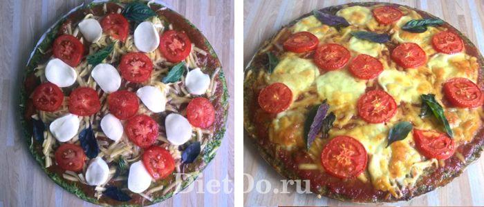 пп пицца из брокколи на сковороде пошаговый рецепт
