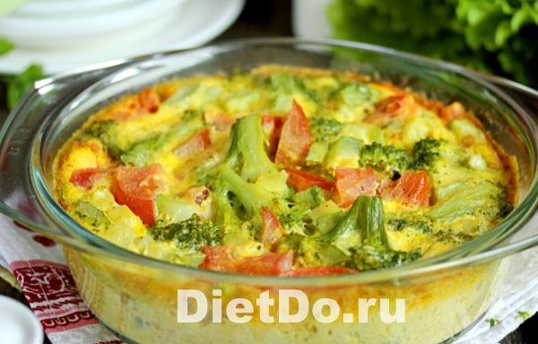 брокколи запеченная в духовке с яйцом и молоком