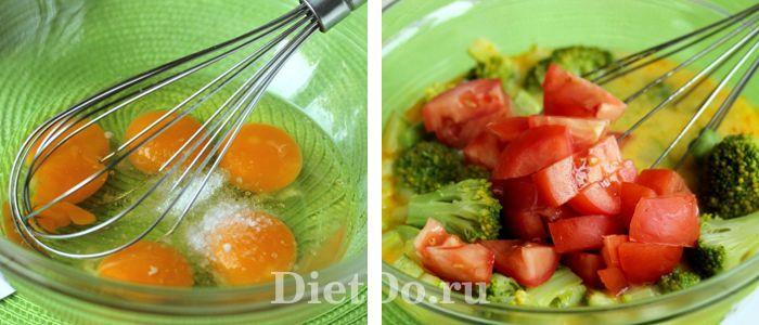 брокколи запеченная в духовке с яйцом и молоком рецепт с фото