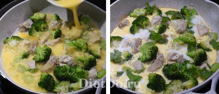 омлет с брокколи на сковороде рецепт