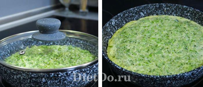 пп лепешка из свежей брокколи