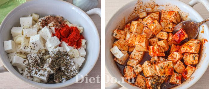 Салат с баклажанами и сыром фета рецепт
