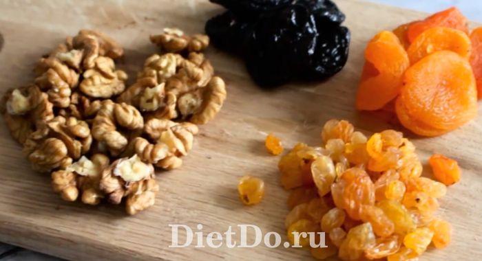 конфеты из сухофруктов и орехов в домашних условиях
